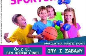 Plakat Profilaktyka poprzez sport 2020